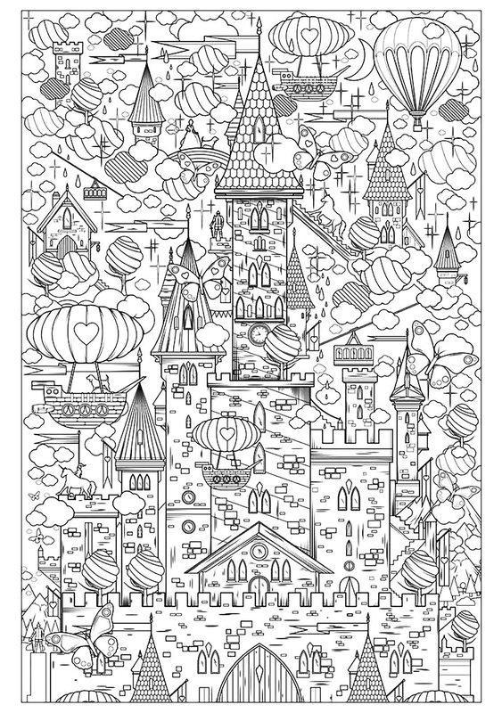 Kolorowanki Dla Dorosłych Architektura Do Wydruku Część 1