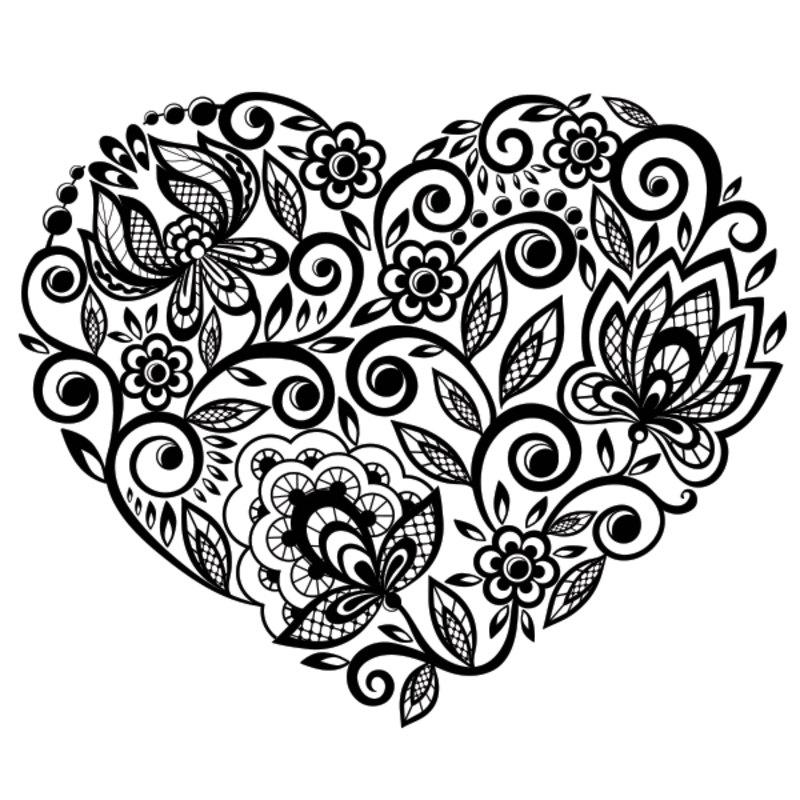 Kolorowanki Dla Dorosłych Serce Do Wydruku Część 3