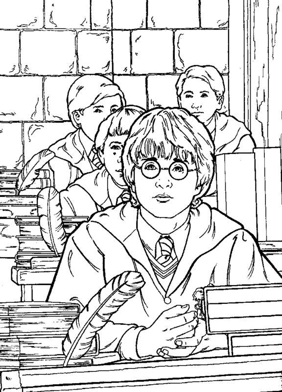 Kolorowanki dla doros ych Harry Potter do wydruku cz 3