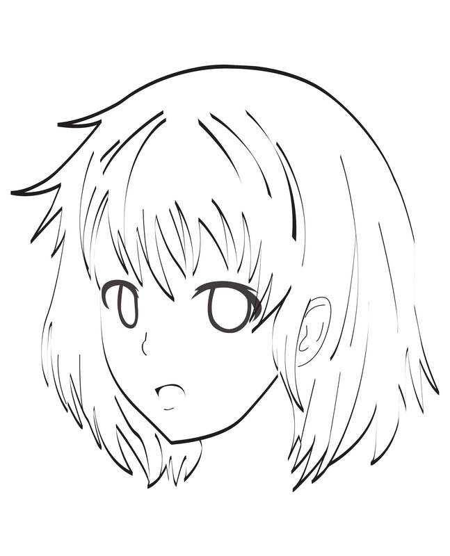 Kolorowanki dla doros ych manga anime do wydruku cz 1 - Coloriage visage manga ...