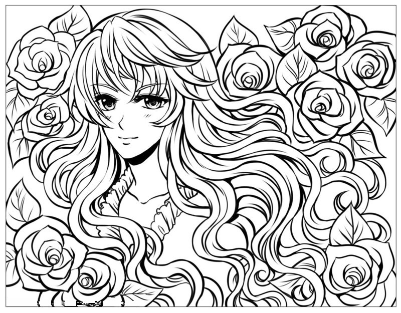 new hairstyle coloring pages - photo#9