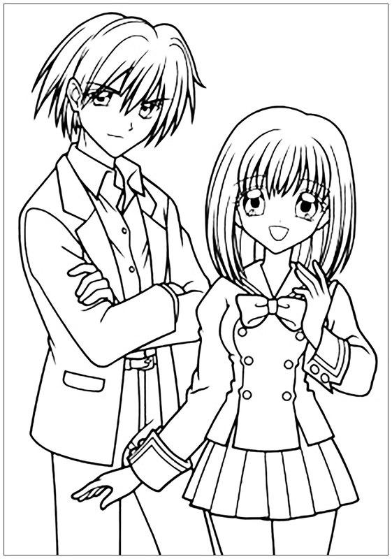 One Line Text Art Hug : Kolorowanki dla dorosłych manga anime do wydruku część