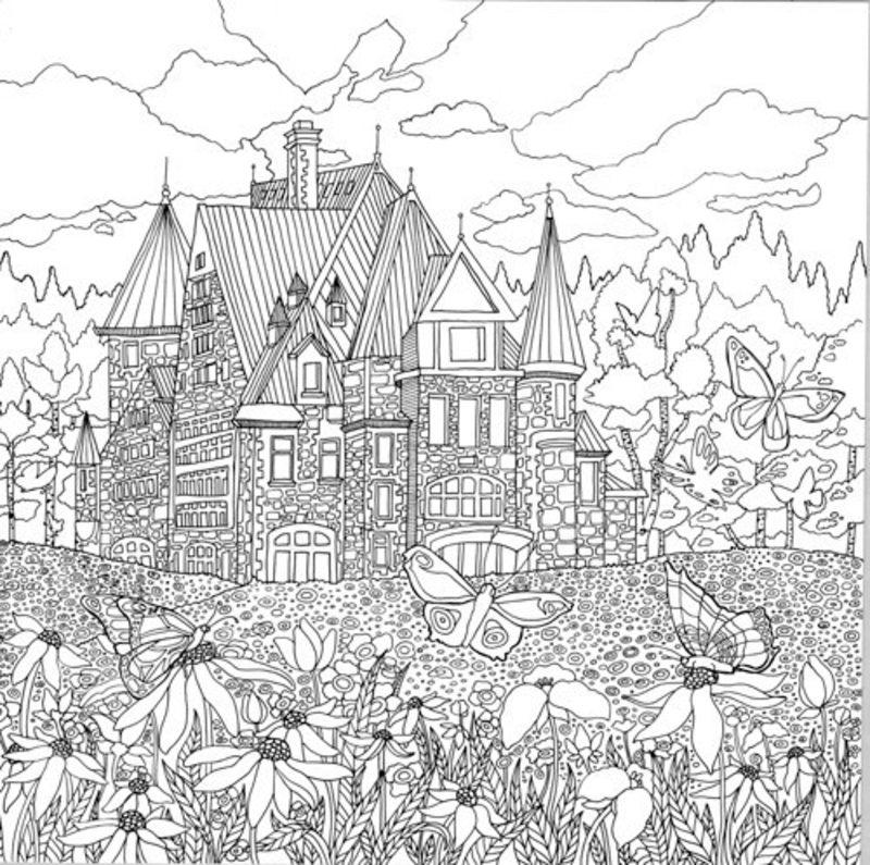 Kolorowanki Dla Dorosłych Tajemniczy Ogród Do Wydruku Część 3