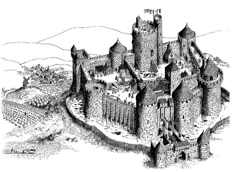 Kolorowanki Dla Dorosłych Średniowiecze Do Wydruku Część 1