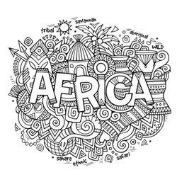 kolorowanki dla dorosłych: Afryka 1