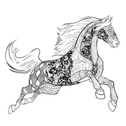 Kleurplaat Mandela Paarden Kolorowanki Dla Dorosłych Konie Do Wydruku Za Darmo