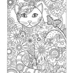 Kolorowanki Dla Dorosłych Koty Do Wydruku Za Darmo