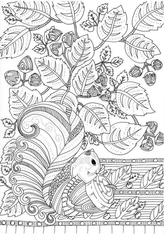 Kolorowanki Dla Dorosłych Jesień Do Wydruku Część 1