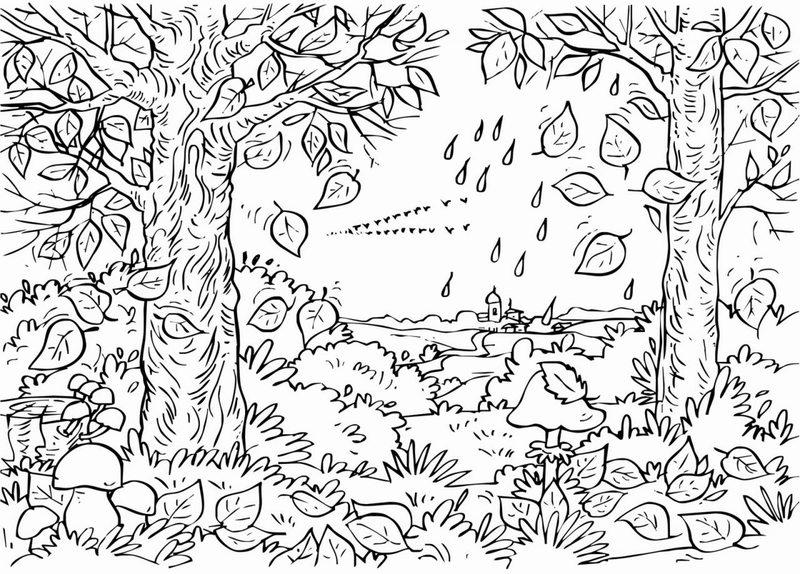 Kolorowanki Dla Dorosłych Jesień Do Wydruku Część 2