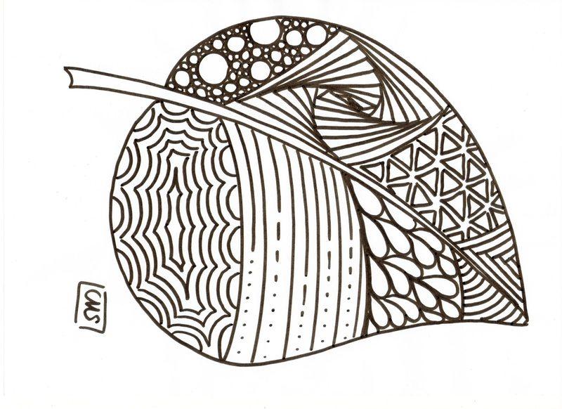 Kolorowanki dla doros ych jesie do wydruku cz 5 - Dessiner des feuilles d automne ...