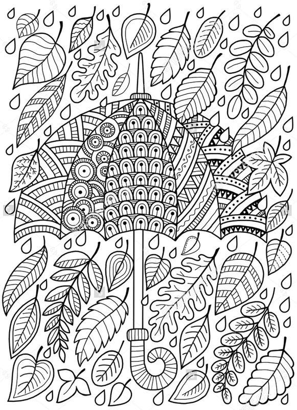 Kolorowanki Dla Dorosłych Jesień Do Wydruku Część 5