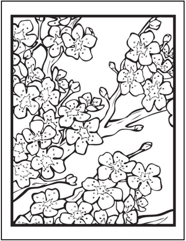Kolorowanki dla doros ych Kwiaty do wydruku cz 9