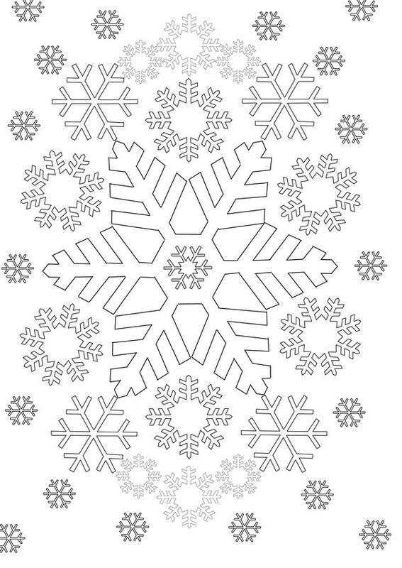 Kolorowanki dla doros ych Zima do wydruku