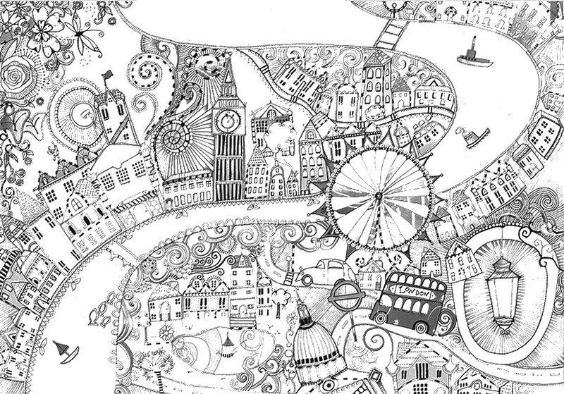 Eiffeltoren Parijs Kleurplaat Kolorowanki Dla Dorosłych Londyn Do Wydruku Część 1