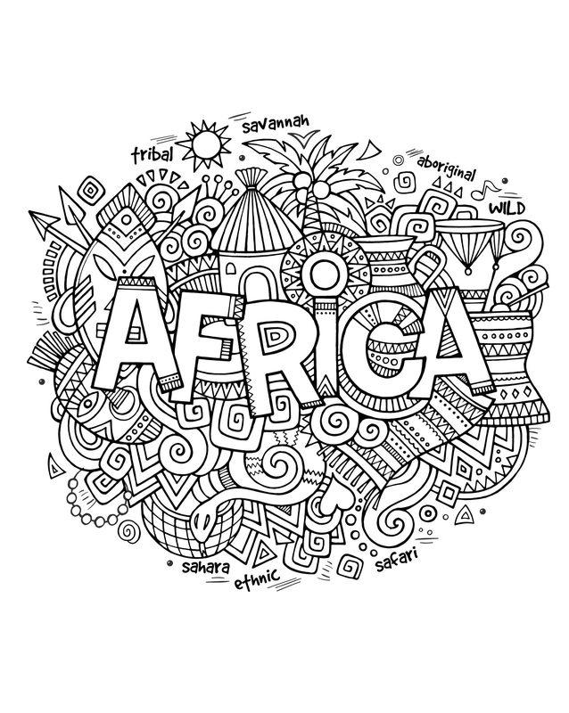 Kolorowanki dla doros ych Afryka do wydruku cz 1