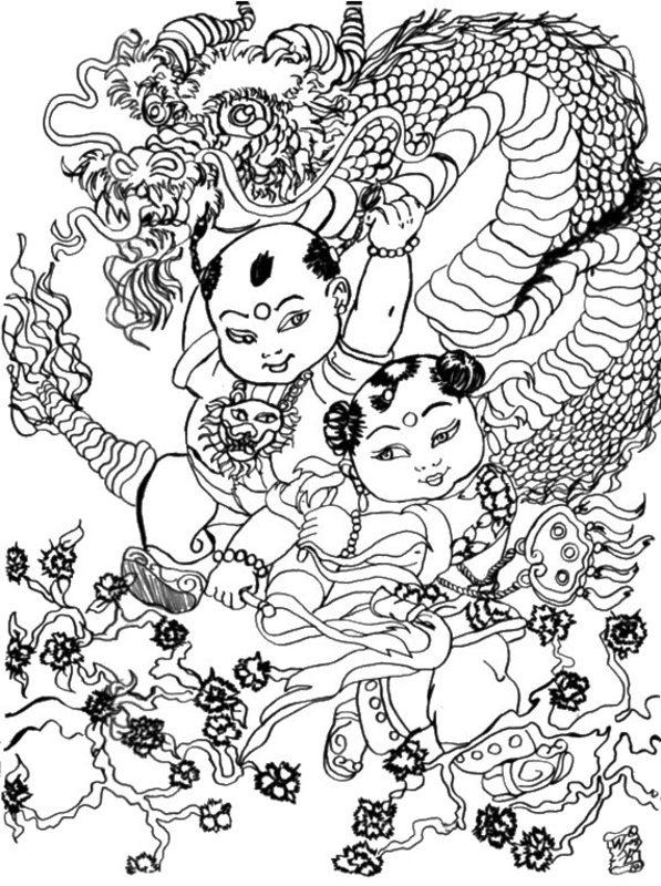 Kolorowanki Dla Dorosłych Azja Chiny Do Wydruku Część 1