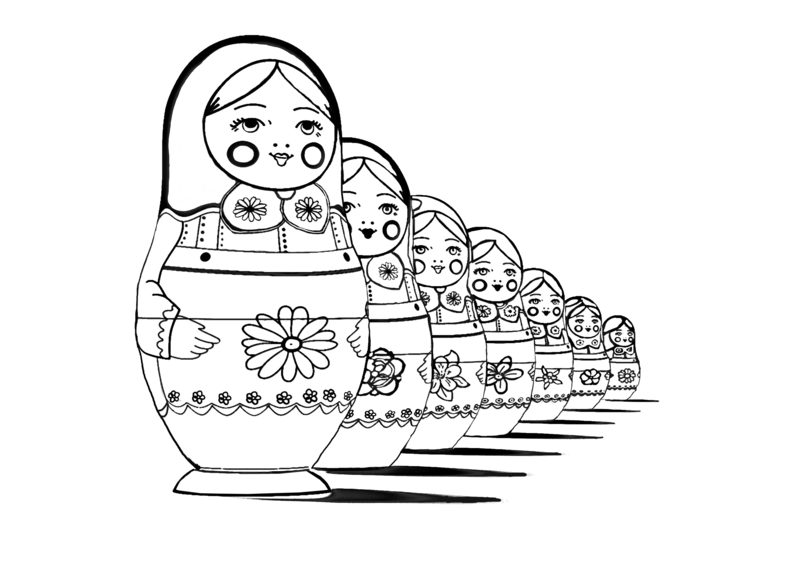 Kolorowanki Dla Dorosłych Matrioszki Do Wydruku Część 1