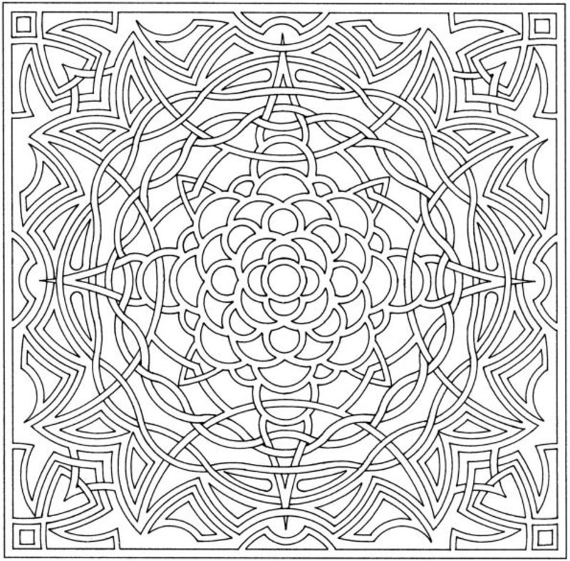 hard illusion coloring pages - photo#14