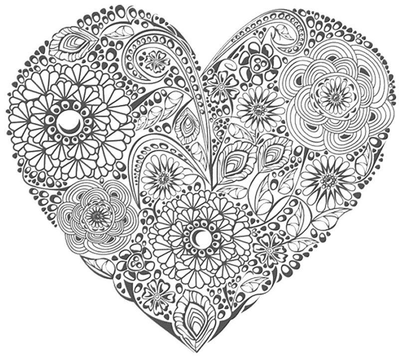 Kolorowanki Dla Doroslych Walentynki Do Wydruku Czesc 1