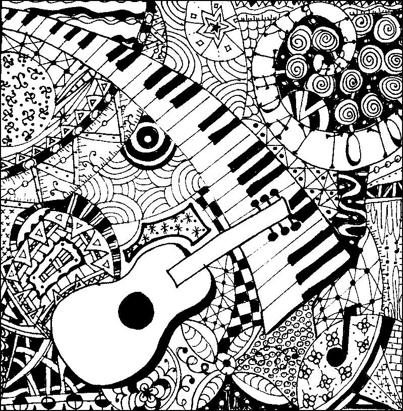 Kolorowanki muzyczne do wydruku