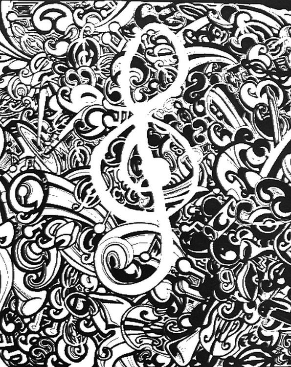 Kolorowanki Muzyczne Do Wydruku Dla Dorosłych Część 3