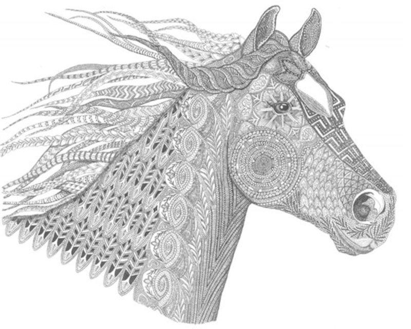 Paarden Kleurplaat Spirit Kolorowanki Dla Dorosłych Konie Do Wydruku Część 1