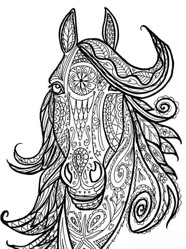 Kolorowanki Dla Dorosłych Konie Do Wydruku Część 1