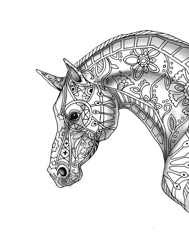 Kolorowanki Dla Dorosłych Konie Do Wydruku Część 2
