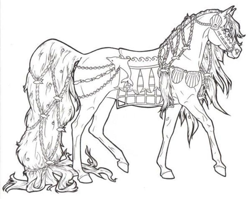 Kolorowanki Dla Doroslych Konie Do Wydruku Czesc 4