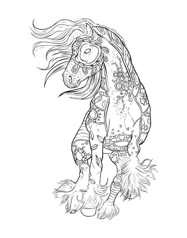 Kolorowanki Dla Dorosłych Konie Do Wydruku Część 4