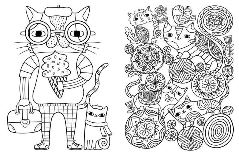 Kolorowanki dla doros ych Koty