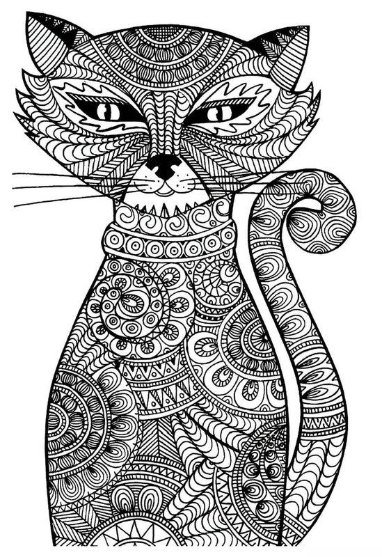 Kolorowanki Dla Dorosłych Koty Do Wydruku Część 1