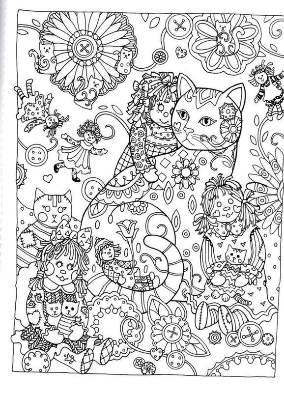 Kolorowanki Dla Dorosłych Koty Do Wydruku Część 2