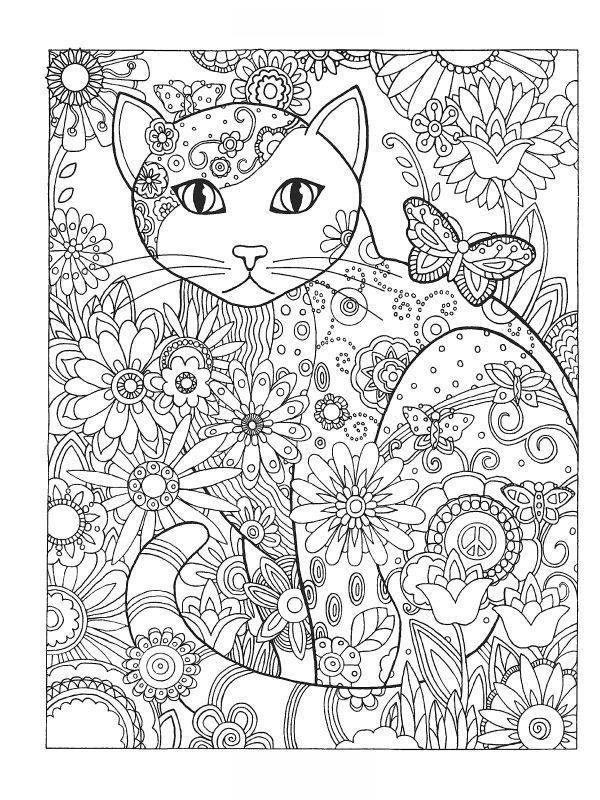 Kolorowanki Dla Dorosłych Koty Do Wydruku Część 3