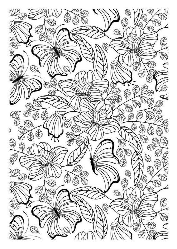 Kolorowanki dla doros ych Motyle do wydruku cz 3