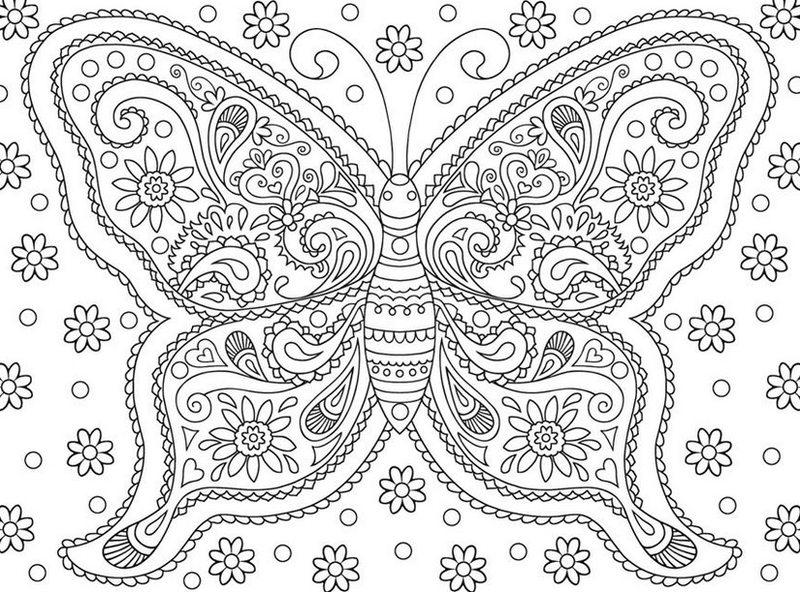 Kolorowanki Dla Doroslych Motyle Do Wydruku Czesc 3