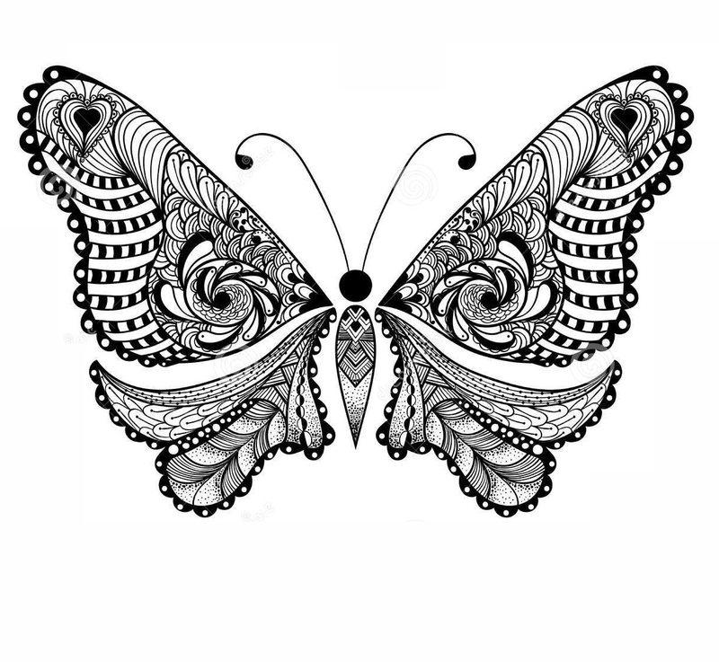 Kolorowanki Dla Doroslych Motyle Do Wydruku Czesc 5