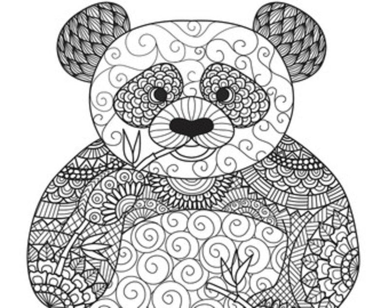 kolorowanki dla dorosłych panda do wydruku część 2