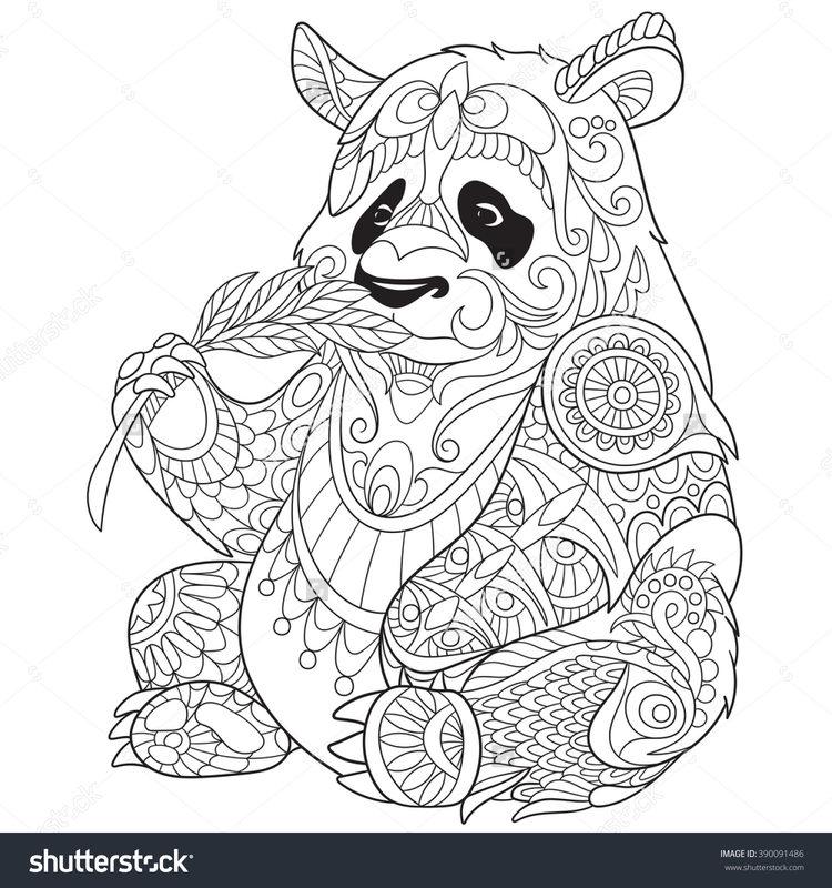 Kolorowanki Dla Dorosłych Panda Do Wydruku Część 3