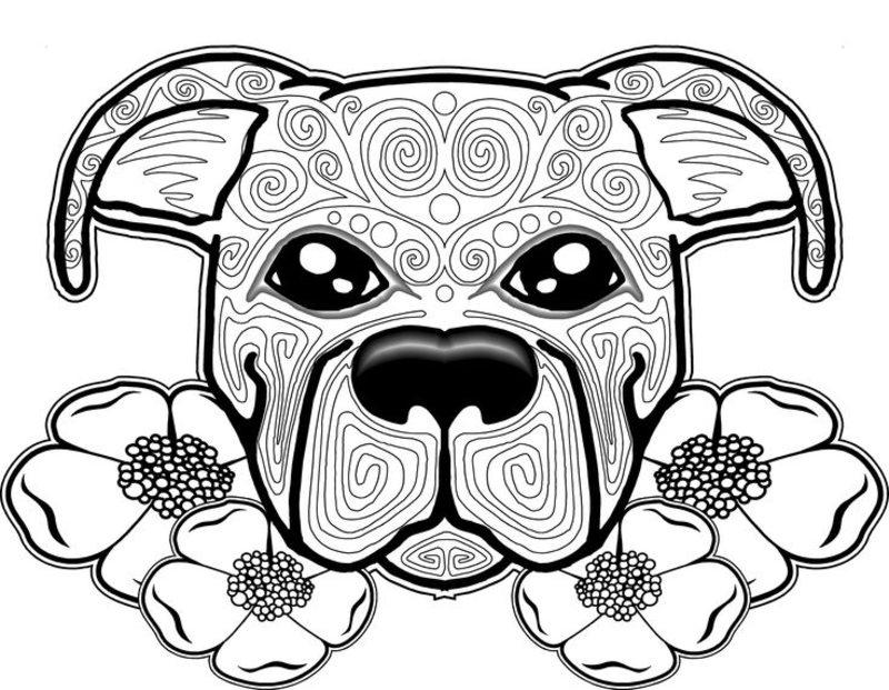 Kolorowanki dla doros ych Psy