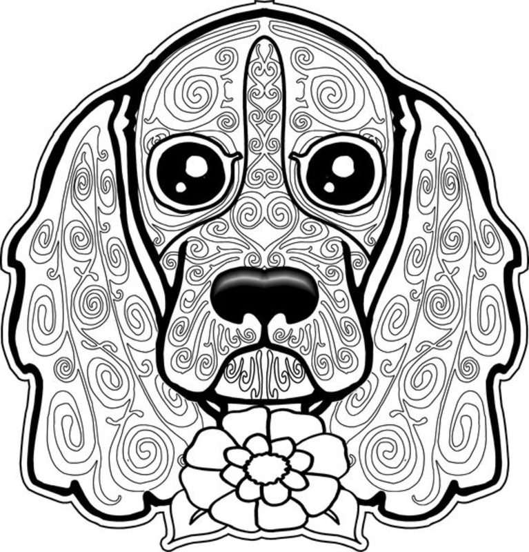 Kolorowanki dla doros ych Psy do wydruku cz 1