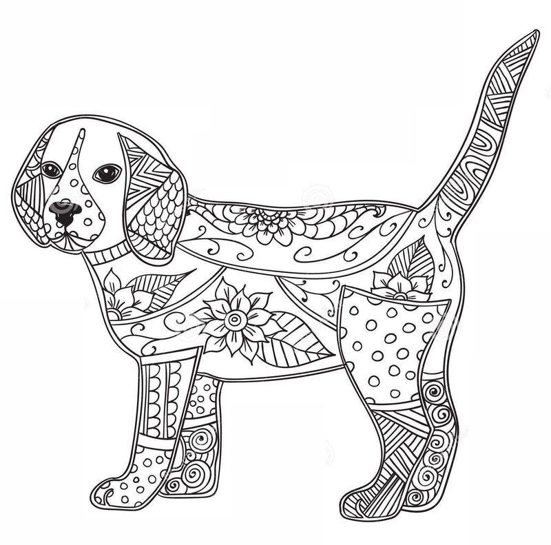 Kolorowanki Dla Dorosłych Psy Do Wydruku Część 3