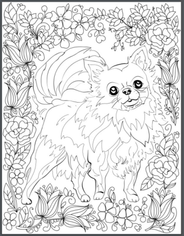 Kolorowanki Dla Dorosłych Psy Do Wydruku Część 4