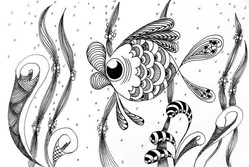 Kolorowanki dla doros ych ryby do wydruku cz 2 - Pagine da colorare pesci per adulti ...