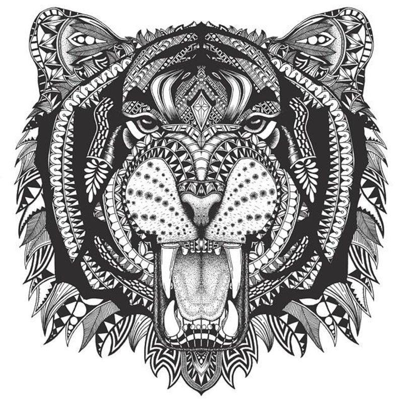 Kolorowanki Dla Dorosłych Tygrysy Do Wydruku Część 1