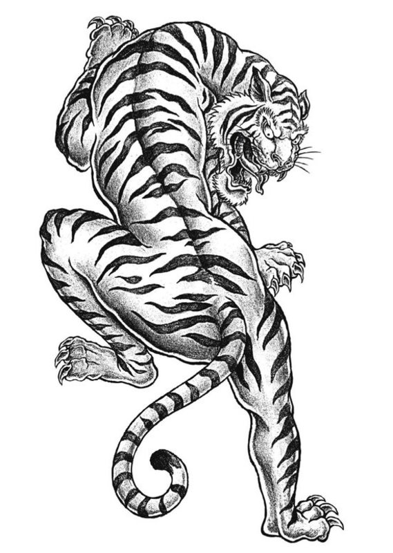 Kolorowanki dla doros ych Tygrysy do wydruku cz 3